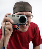 guy with camera poster