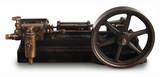 steam piston wheel poster