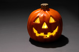 jack-o-lantern with candle poster
