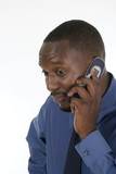 concerned business man on cellphone 2 poster
