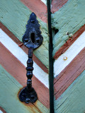 old retro iron door handle poster