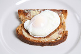 poached egg on toast poster