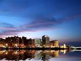 city coast by night poster