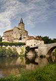 tranquil river scene in france poster