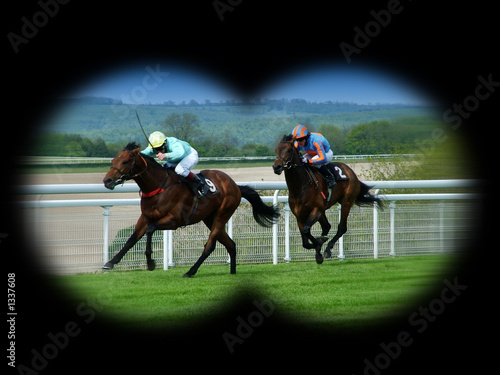 watching horse racing - 1337608