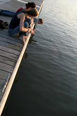 teens on a pier