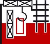 construction logo poster