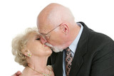 romantic senior kiss