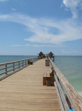 sunny day at naples pier poster