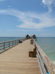 sunny day at naples pier