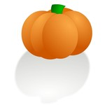 pumpkin illustration with shadow