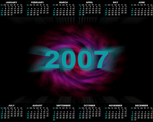 abstract calendar (2007)