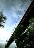pont suspendu à bordeaux, gironde, aquitaine poster