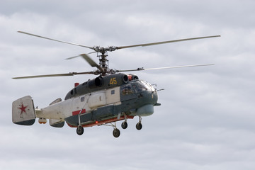 ka-32 in clouds