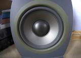 speaker tweeter woofer bass boom box sound waves poster