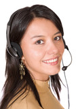 beautiful customer support girl poster
