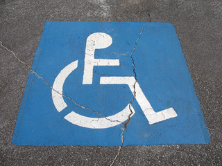 handicap parking place sign