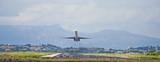passenger plane taking off poster