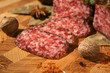 salami.tasty slices.