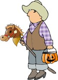 cowboy trick-or-treater poster