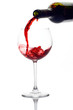 roleta: red wine pouring down from a wine bottle