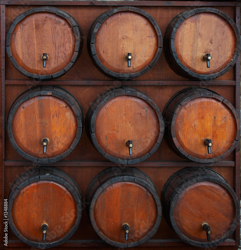 Fototapeta wine barrels stand