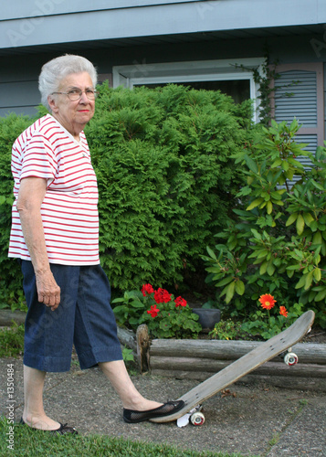 skateboard grandmother