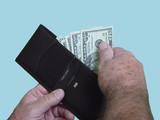 wallet full of cash poster