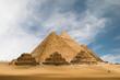 Leinwandbild Motiv the great pyramids
