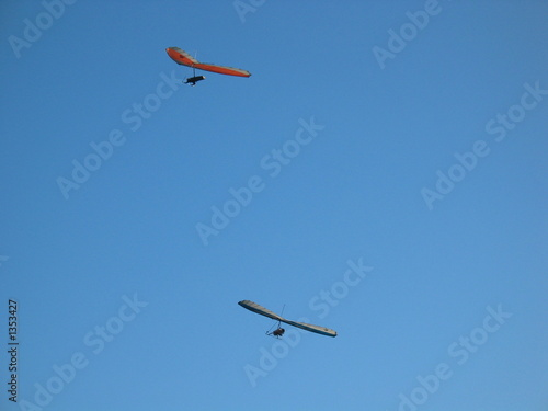 two hang gliders