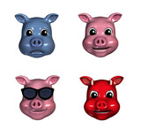 piggy emoticons poster