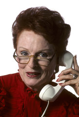 business woman on telephone