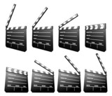 clapboard (sequence of movement) poster