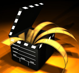 clapboard (open box)