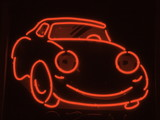 red neon car poster