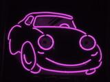 light purple neon car poster