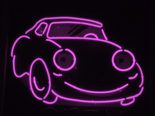 light purple neon car