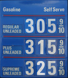 gasoline prices poster