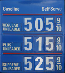 $5 gas sign front