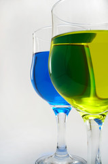 colorful drinking