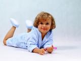 little girl brushing teeth poster
