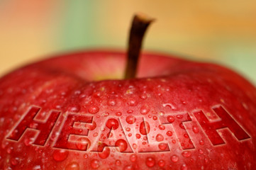 health - wet apple