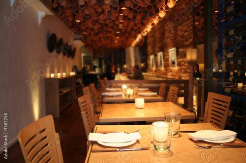 Keuken foto achterwand Buffet, Bar empty restaurant