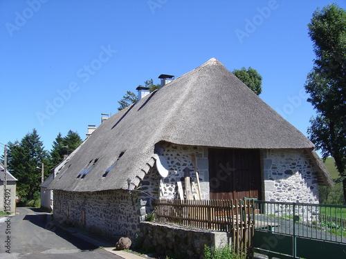 maison avec un toit de chaume