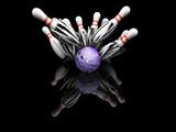 ten pin bowling smash poster