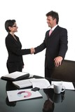 business handshake - isolated poster