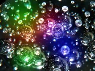 color flashes and bubbles