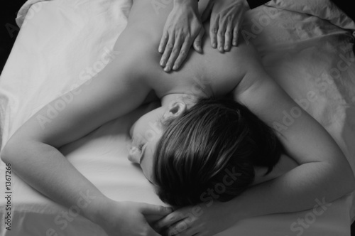 spa back massage by masseuse
