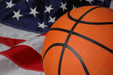 basketball with american flag