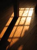 sunlight pattern on floor poster